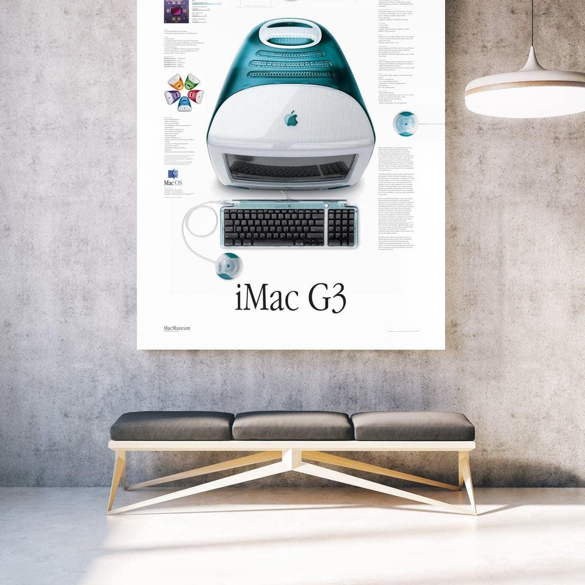 iMac G3 poster in frame