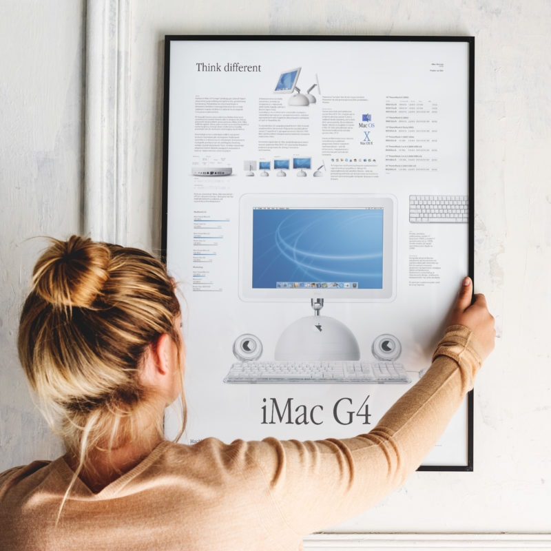 iMac G4 infographic poster
