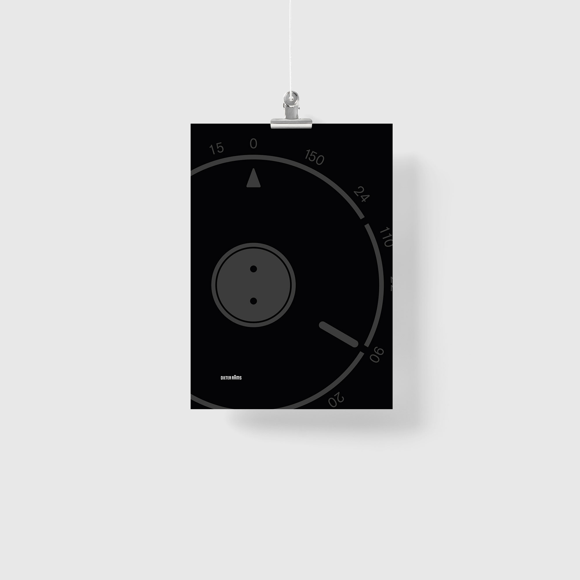 Braun T3 transistor radio by Dieter Rams Illustration Poster Giclée Print