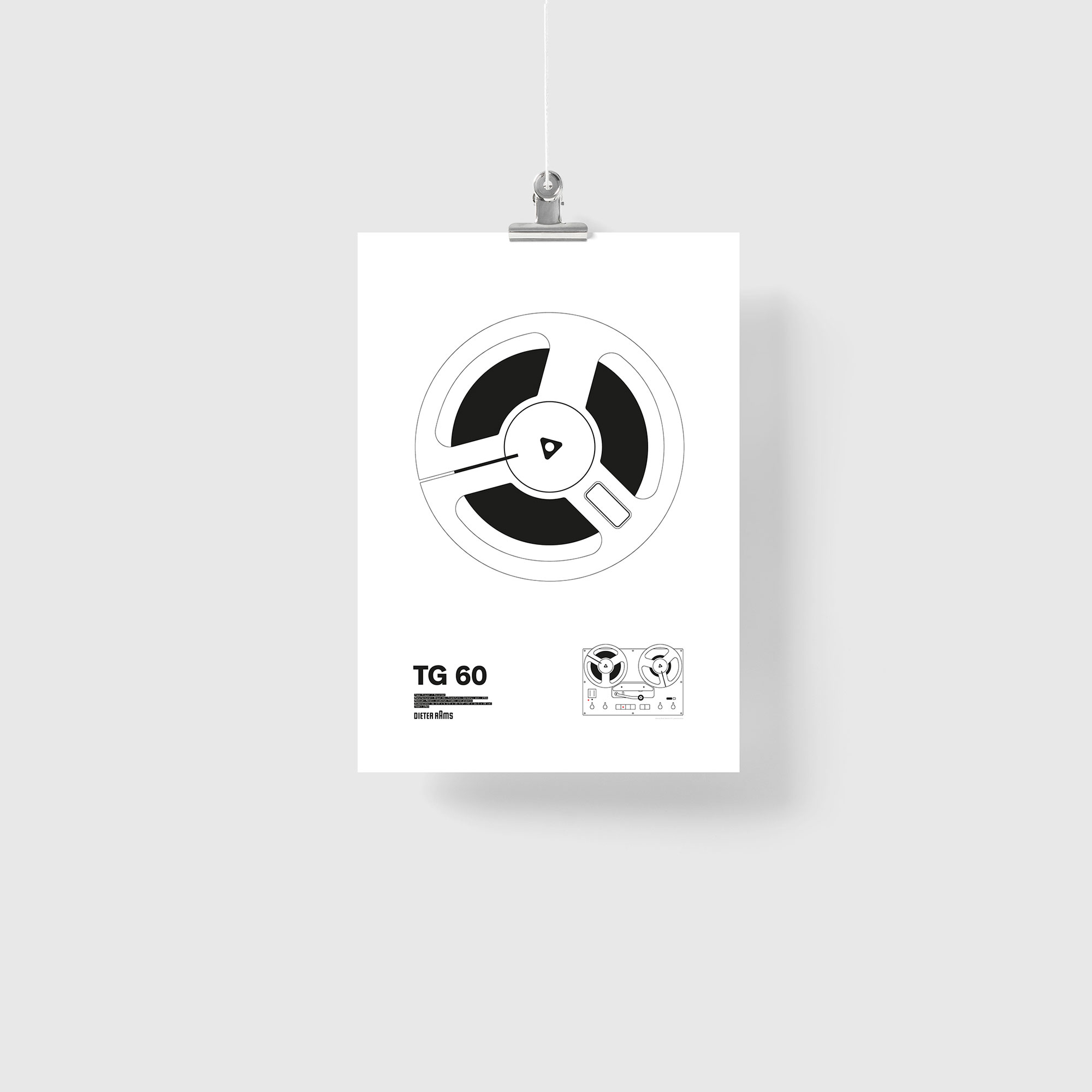 Braun TG 60 Illustration Poster Giclée Print
