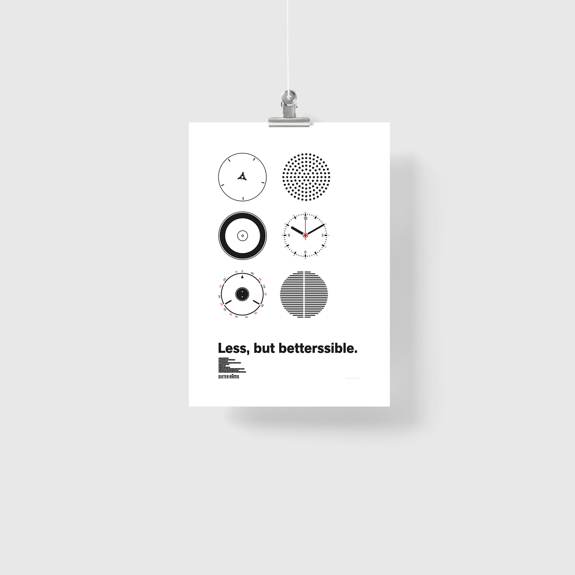 Less, but betterssible – by Dieter Rams, Poster Giclée Print