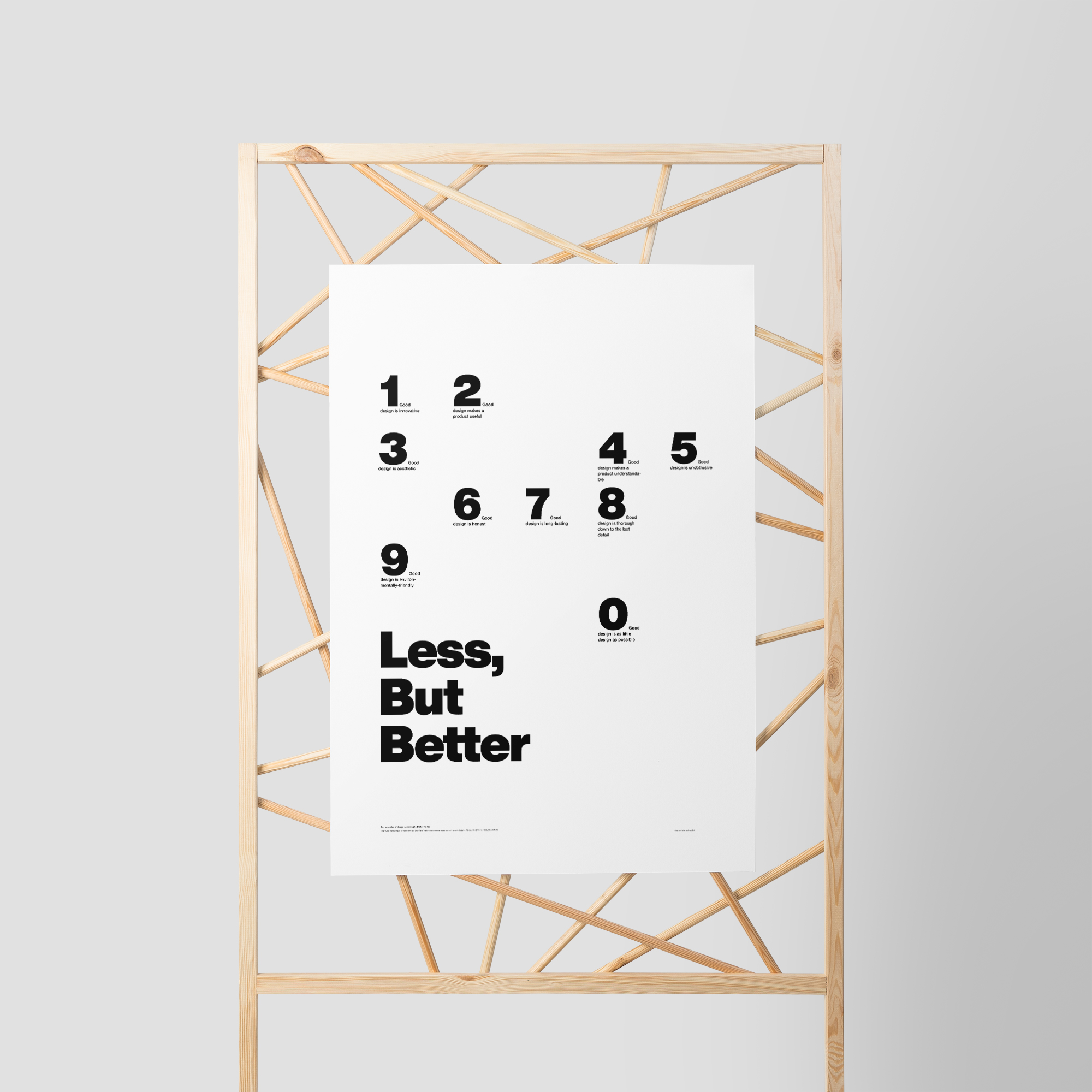 Less but better – 10 principles for good design – by Dieter Rams